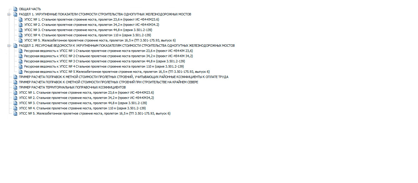 «УПСС Укрупненные показатели стоимости строительства на пролетные строения железнодорожных мостов» (под ред.О.Н.Черной)